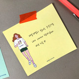 Memowang pastel girl illustration memo pad
