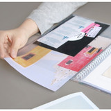 Becoming A4 size clear pockets document file holder