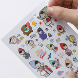 PONYBROWN My little friend cute illustration paper sticker