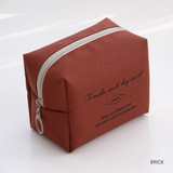 Brick - ICONIC Plain cosmetic makeup small zipper pouch