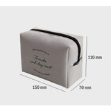 Size - ICONIC Plain cosmetic makeup medium zipper pouch