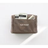 Flat pocket - ICONIC Plain cosmetic makeup medium zipper pouch