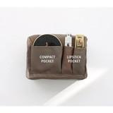 Inner pocket - ICONIC Plain cosmetic makeup medium zipper pouch
