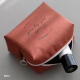 Brick - ICONIC Plain cosmetic makeup medium zipper pouch