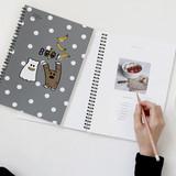 Gungmangzeung Ghost pop spiral bound plain notebook