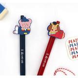 C set - Romane Hello Korea black gel pen set 0.38mm