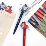 03 & 04 - Romane Hello Korea black gel pen set 0.38mm