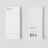 Gungmangzeung The Memo forget me not checklist notepad