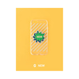 G - New - Leather sticker clear TPU jelly case for iPhone 7