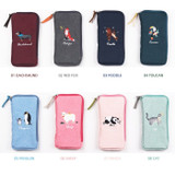 Option - Wanna This Tailorbird half zip around slim multi pouch