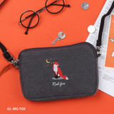 Red fox - Tailorbird pastel side crossbody bag