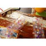 Cosmos clear folding pencil case