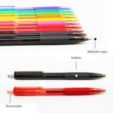 Detail of Colorful knock retractable color gel pen set 0.5mm
