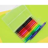 Colorful knock retractable color gel pen set 0.5mm