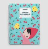 Mint - Spring pattern clear pockets document file holder