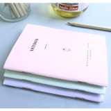 Pastel floral A6 small lined notebook
