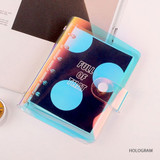 Hologram - Retro 6-ring small graph grid notebook