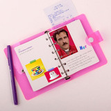 Retro 6-ring small graph grid notebook