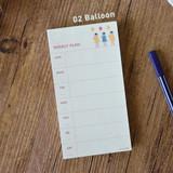 Balloon - Jam studio Jam undated weekly planner notepad