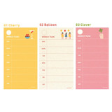 Option - Jam studio Jam undated weekly planner notepad