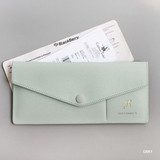 Gray - Think about W soft envelope passport case