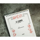 Universal condition Le cahier feminine A5 size spiral lined notebook