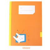Orange - Simsimtokki illustration lined school notebook
