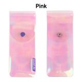 Pink - Hologram pocket jelly pencil case