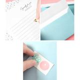 Detail of Soft flower pattern letter paper and envelope