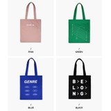 Colors of Even odds cotton shoulder tote bag