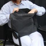 Dark gray - Etudes hobo cotton shoulder tote bag