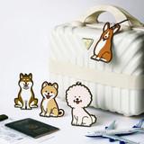 Jam studio Hello puppy travel luggage name tag