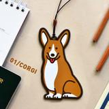 Corgi - Jam studio Hello puppy travel luggage name tag