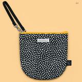 Dot - BNTP Semicircle medium zipper pouch with strap