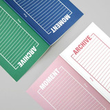 BNTP Moment archive two way lined notebook