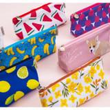 Pattern canvas zipper pouch