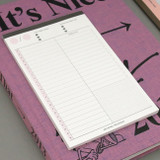 A5 time table checklist daily notepad planner