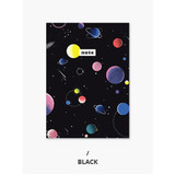 Black - Pattern mini small lined notebook