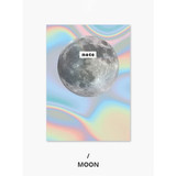 Moon - Photograph mini small lined notebook
