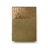 Khaki - Medium 16 months undated monthly planner