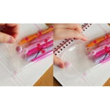 Detail of Red apricot blossom clear folding pencil case