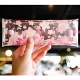 Odong et valerie cherry blossom clear folding pencil case