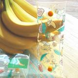 Banana - Banana and Ice cream clear folding pencil case