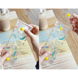 How to use - Banana and Ice cream clear folding pencil case
