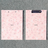Buri cherry blossom pattern A4 clipboard