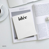 White - Seeso Idee plain drawing notebook