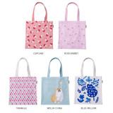 Colorful cotton canvas tote bag