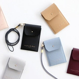Un jour de chance slim pocket card case with neck strap