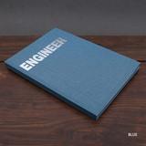Blue - Engineer hardcover grid notebook