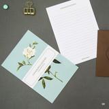 04 - Blossom illustration letter paper and envelope set